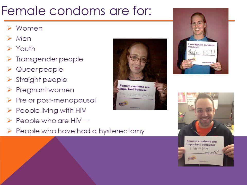 Female condoms are for: