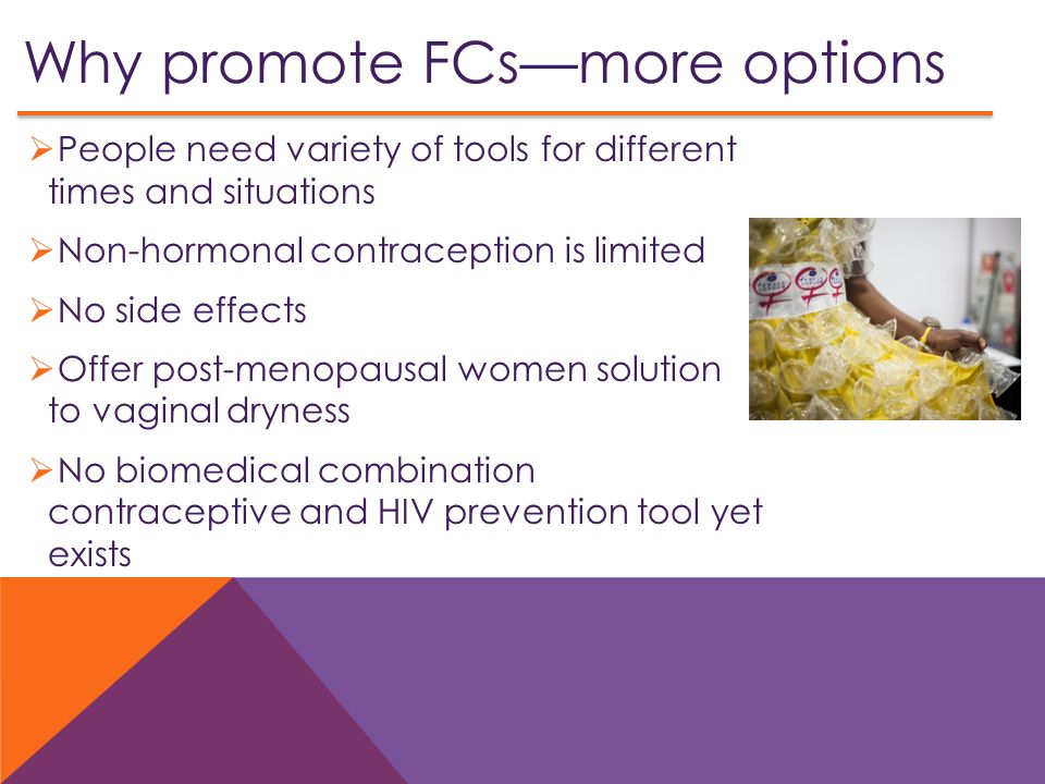 Why promote FCs—more options