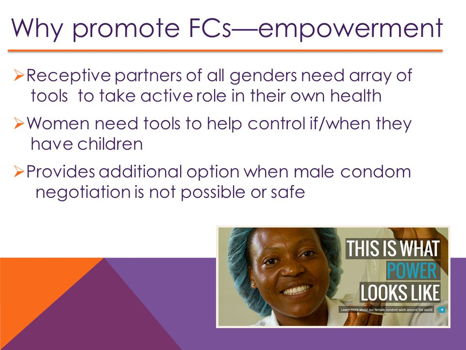Why promote FCs—empowerment