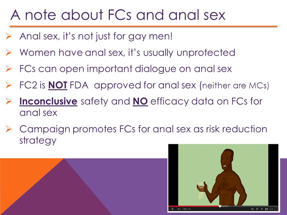 A note about FCs and anal sex