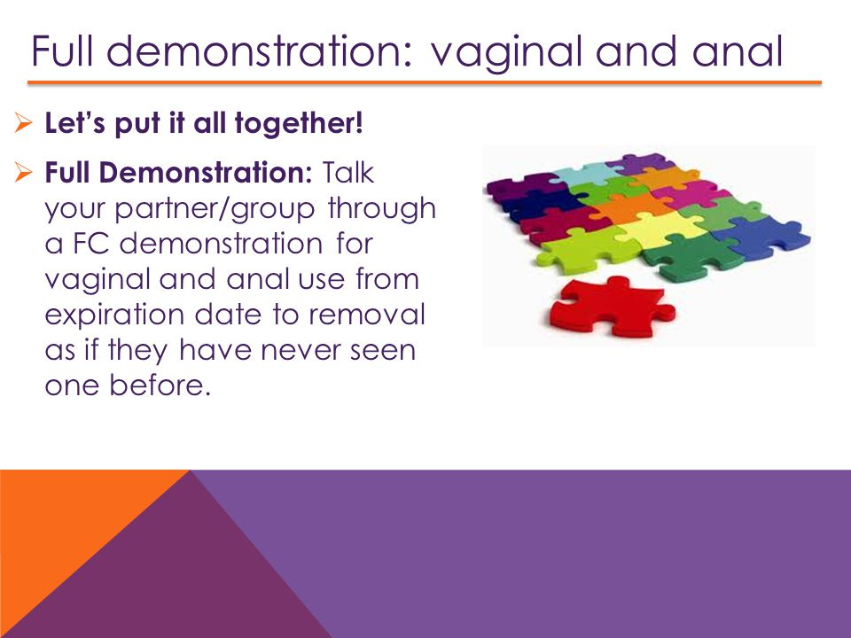 Full demonstration: vaginal and anal