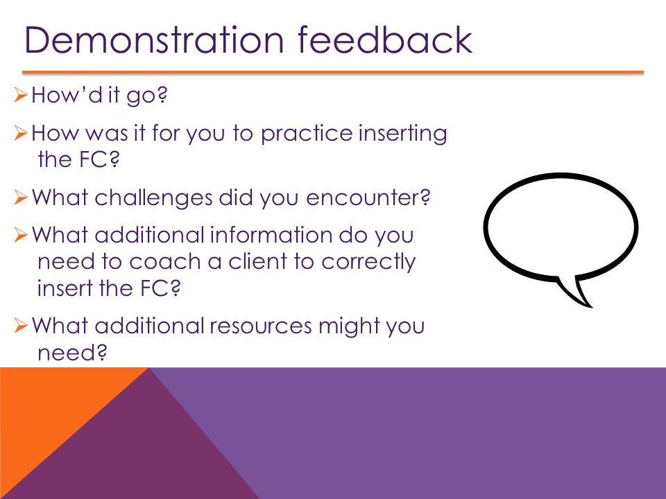 Demonstration feedback