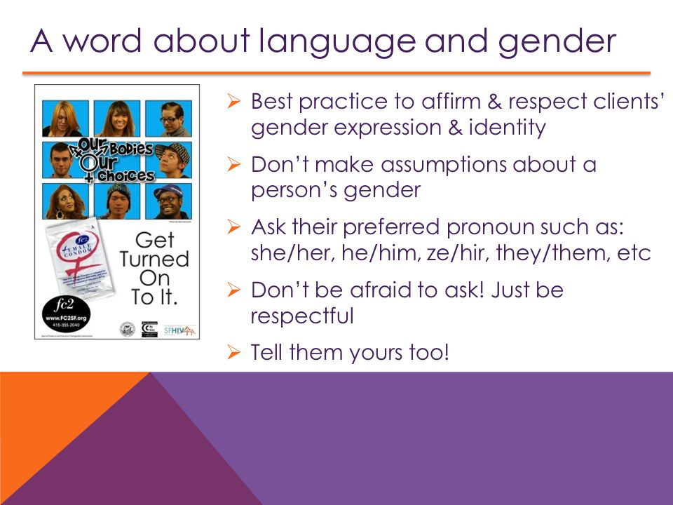 A word about language and gender