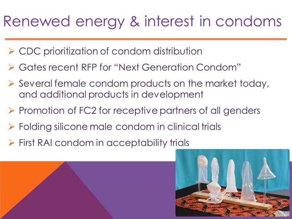 Renewed energy & interest in condoms