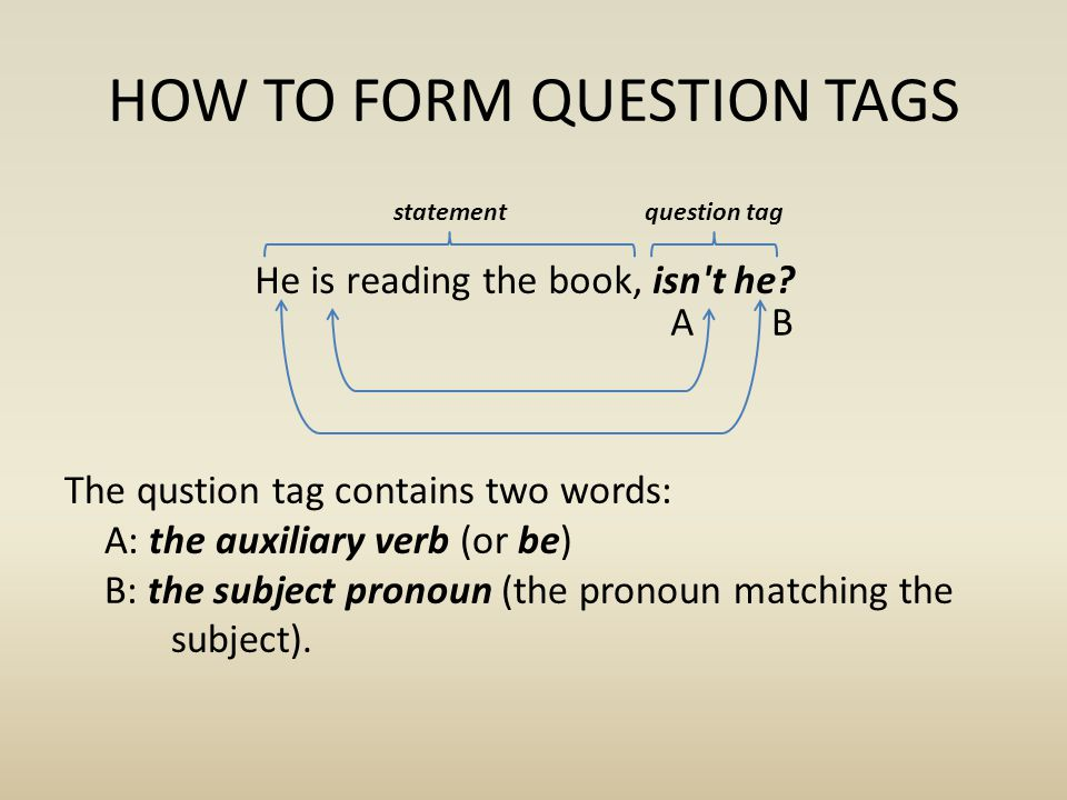 HOW TO FORM QUESTION TAGS