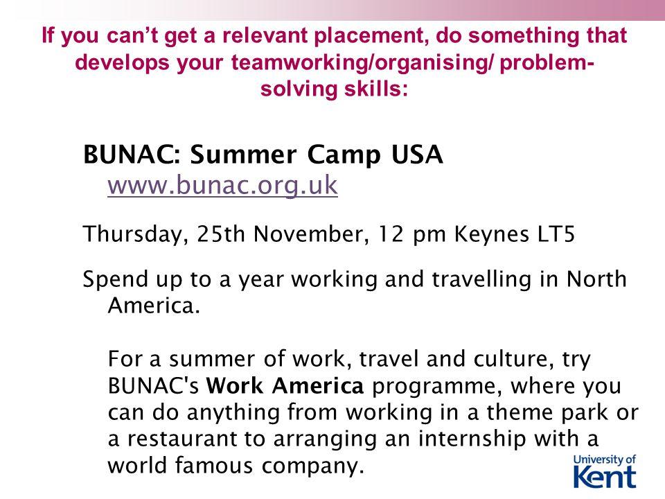 BUNAC: Summer Camp USA www.bunac.org.uk