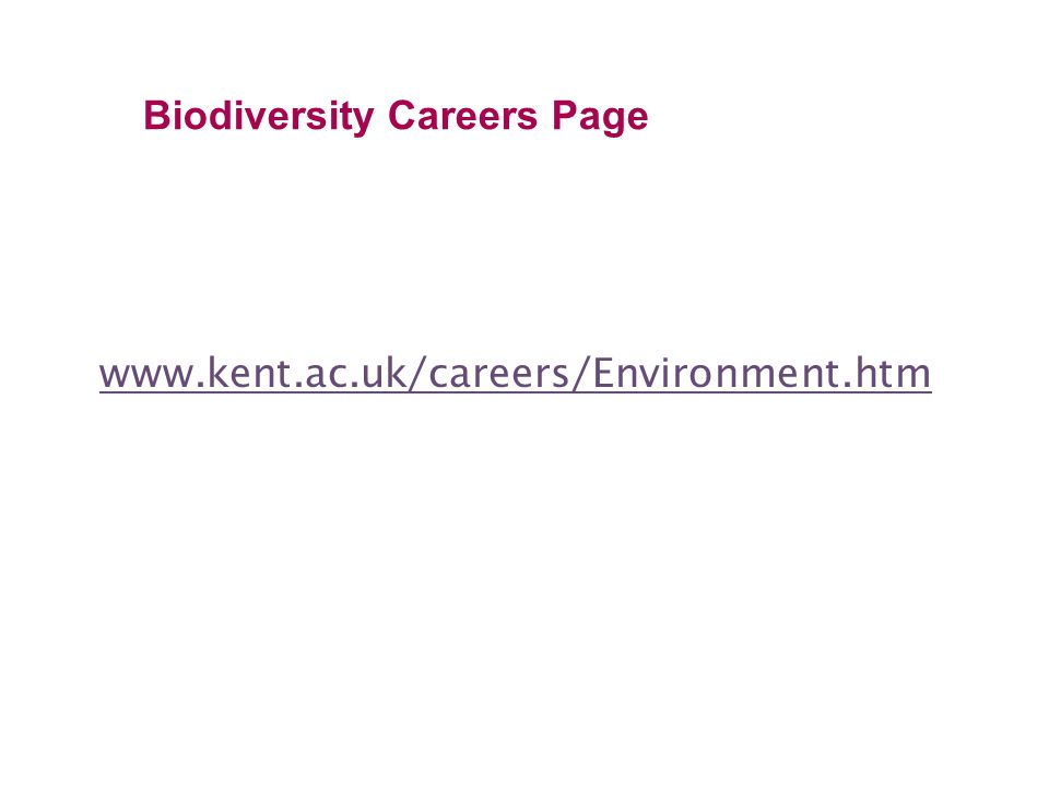 Biodiversity Careers Page