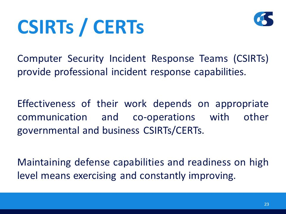 CSIRTs / CERTs