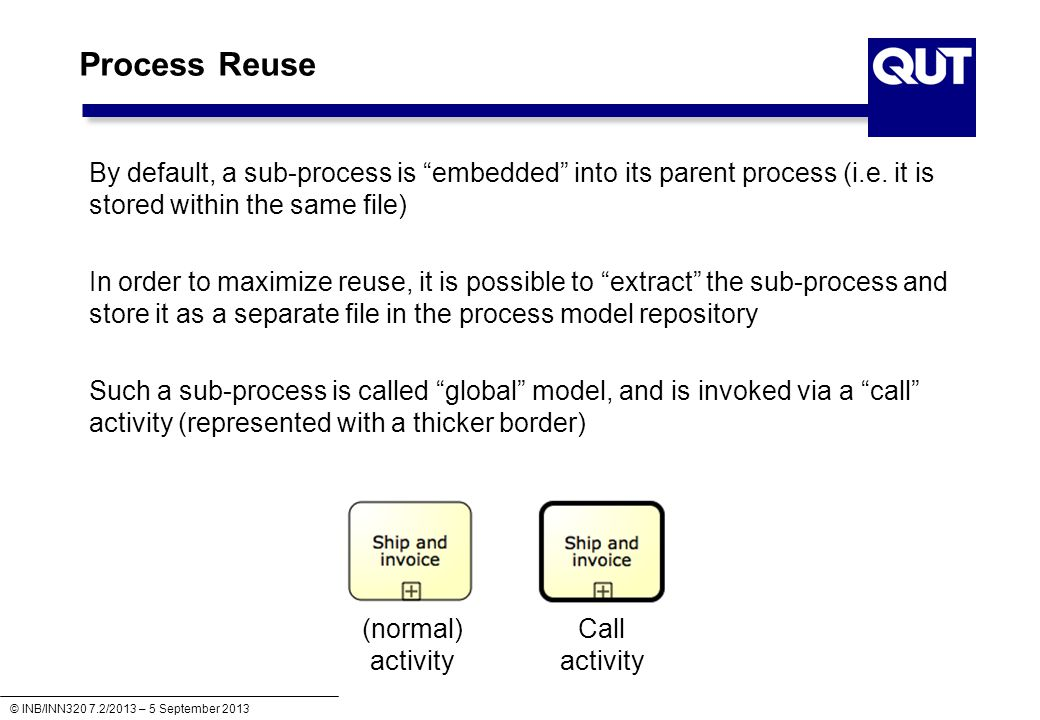 INB/INN320 – Business Process Modelling