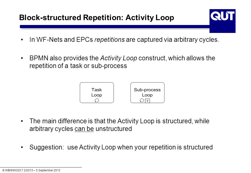 Block-structured Repetition: Activity Loop