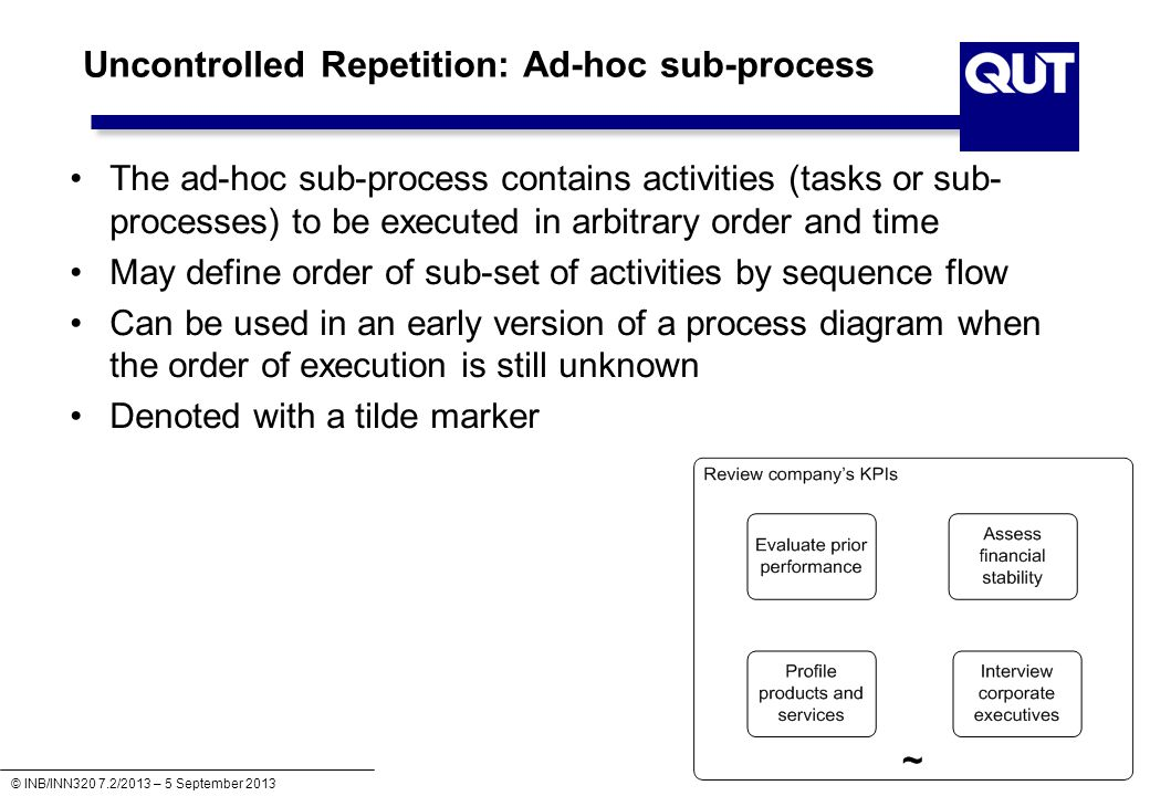 Uncontrolled Repetition: Ad-hoc sub-process