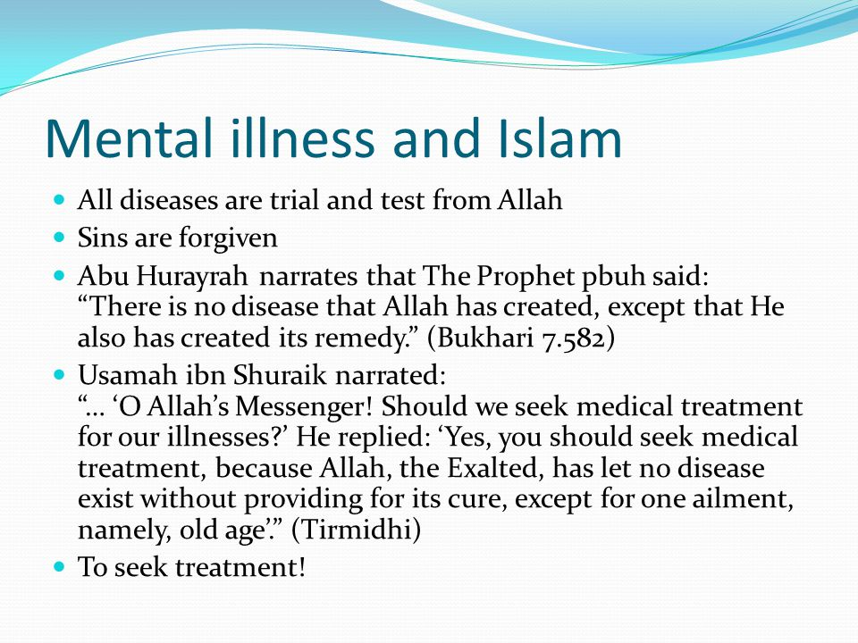 Mental illness and Islam