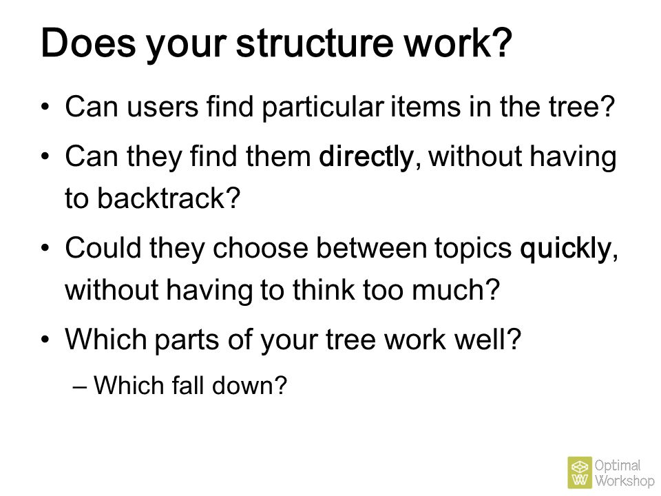 Does your structure work