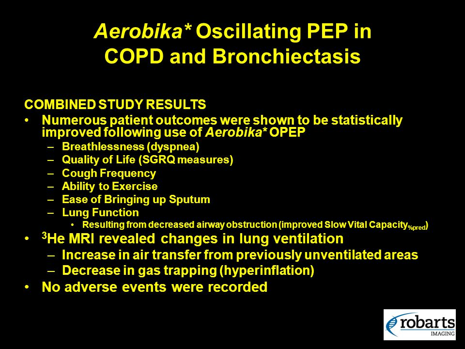 Aerobika* Oscillating PEP in COPD and Bronchiectasis