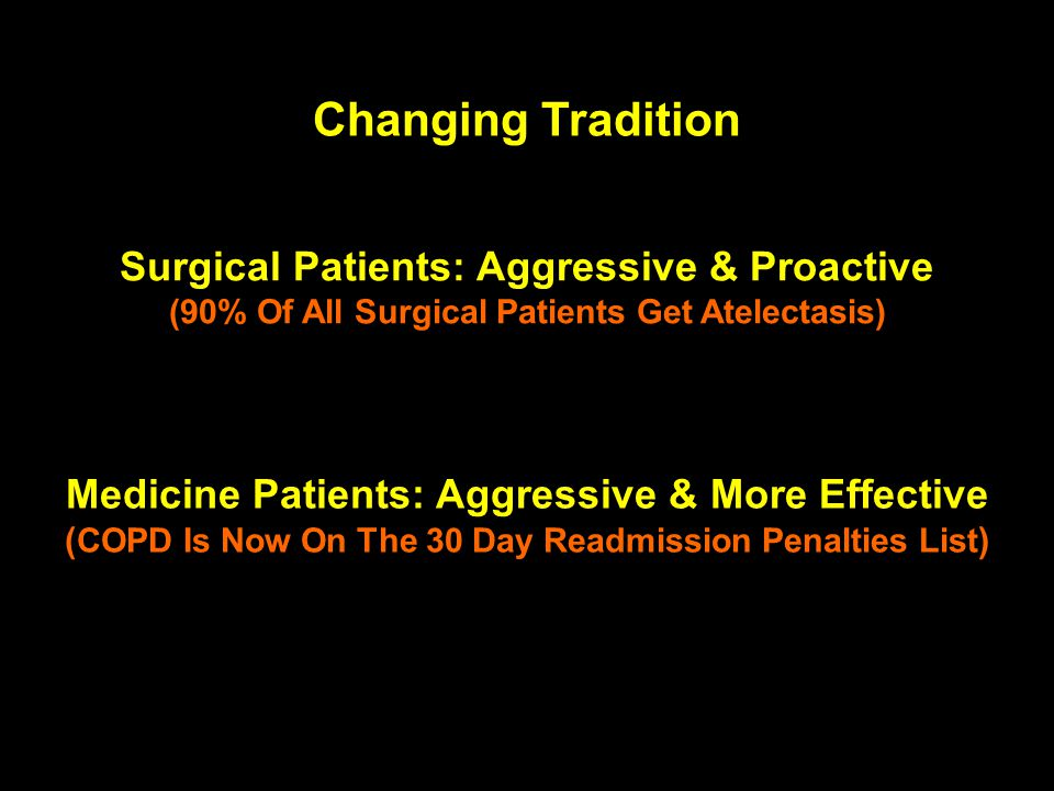 Changing Tradition Surgical Patients: Aggressive & Proactive