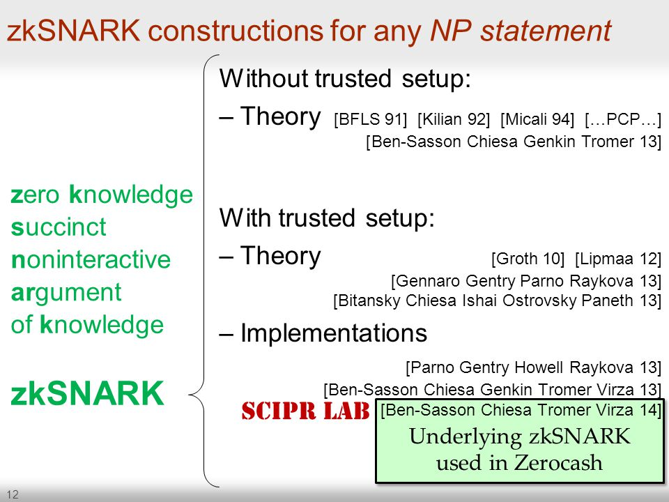 zkSNARK constructions for any NP statement