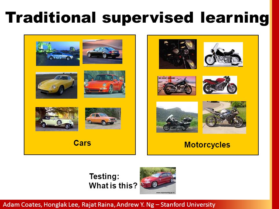 Traditional supervised learning