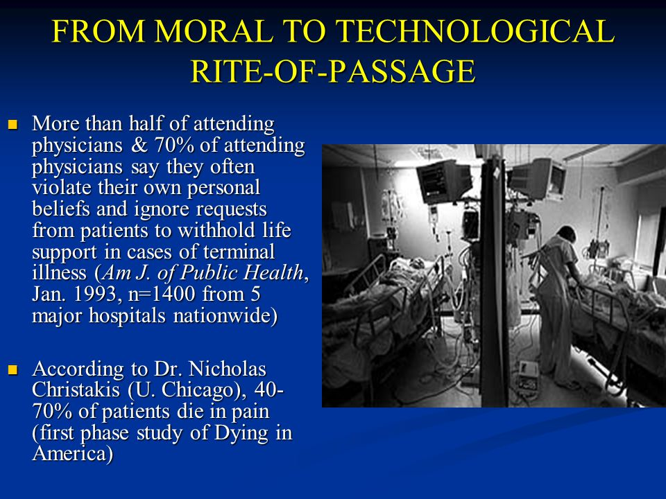 FROM MORAL TO TECHNOLOGICAL RITE-OF-PASSAGE
