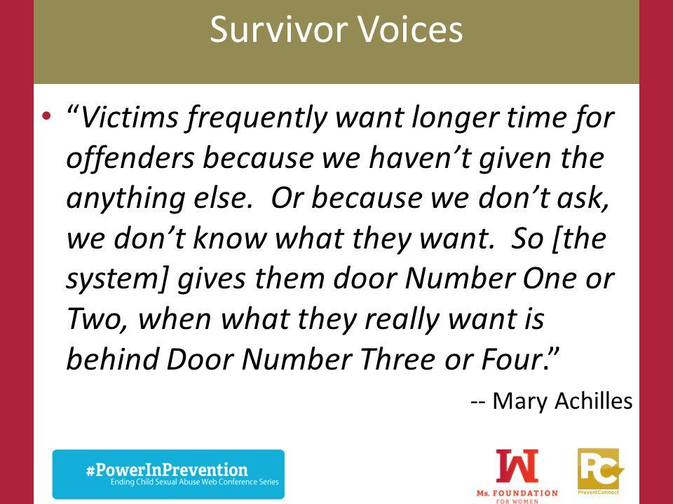 Survivor Voices