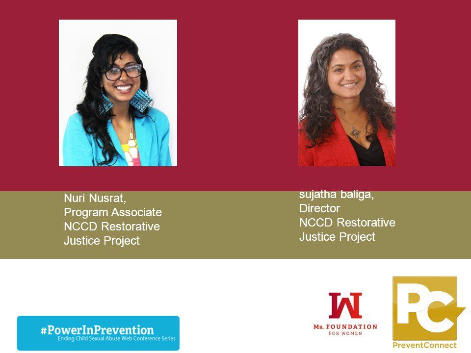 NCCD Restorative Justice Project Nuri Nusrat,