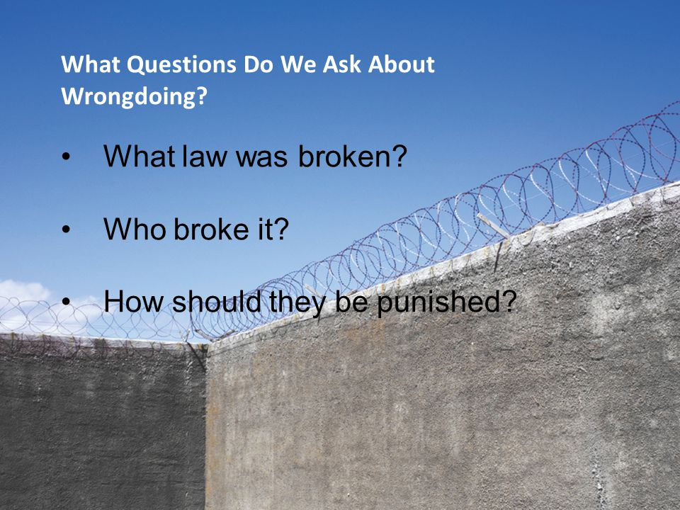 What Questions Do We Ask About Wrongdoing