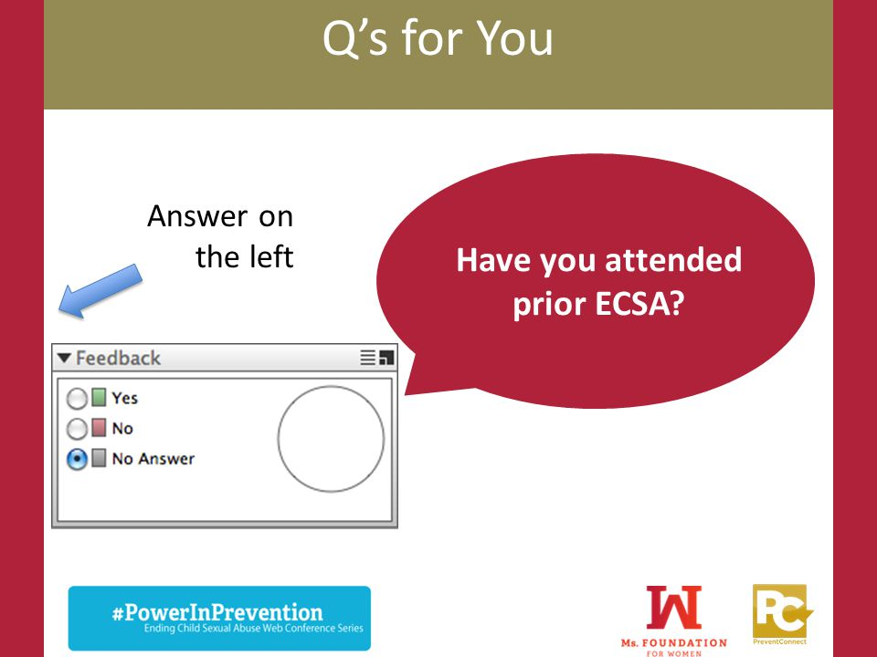 Have you attended prior ECSA