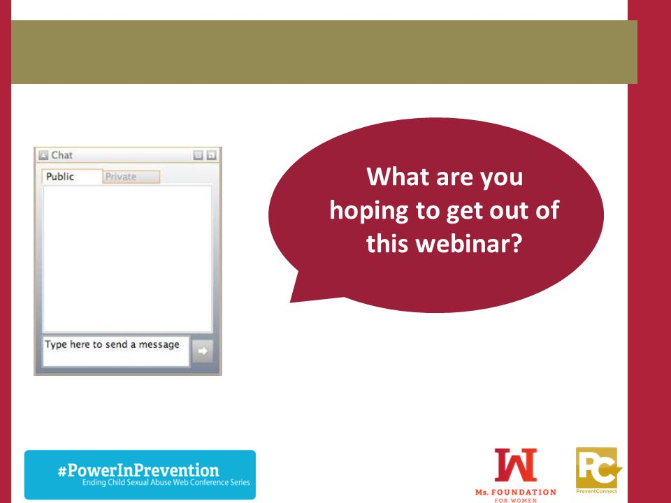 What are you hoping to get out of this webinar
