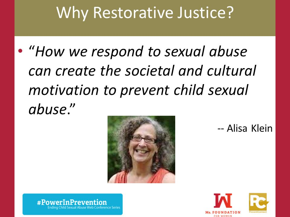 Why Restorative Justice