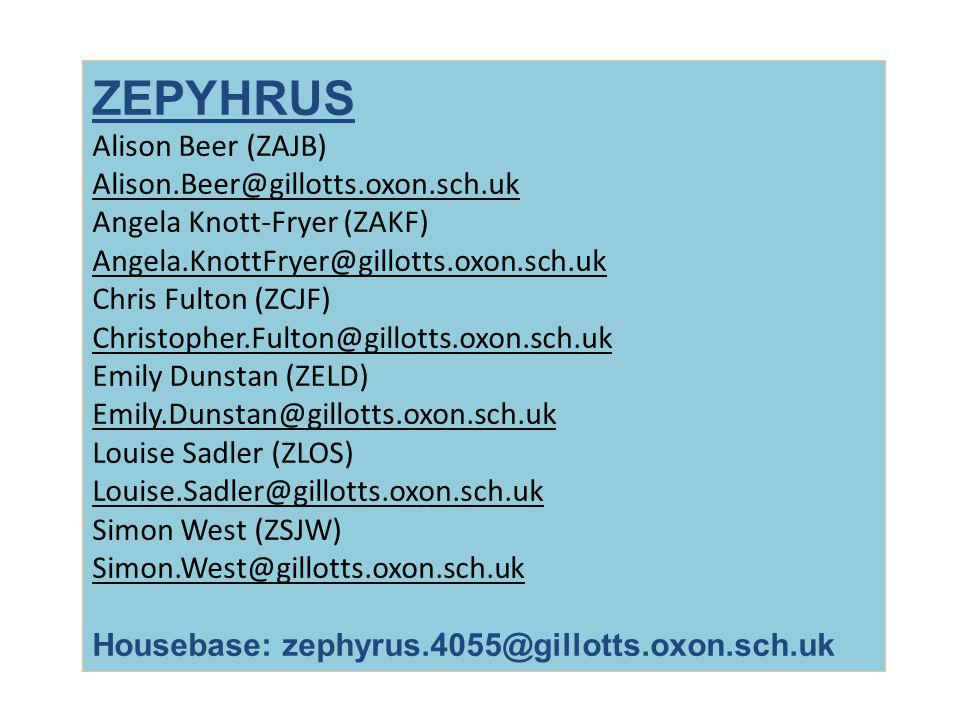 ZEPYHRUS Alison Beer (ZAJB) Alison.Beer@gillotts.oxon.sch.uk
