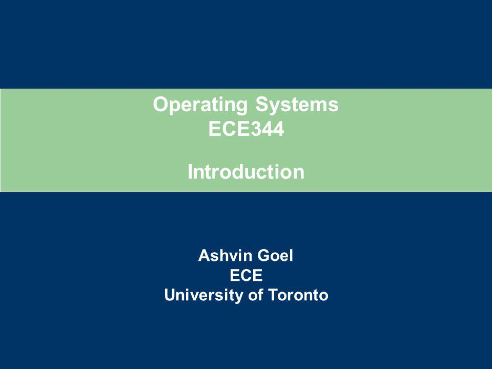 Introduction Welcome to ECE353