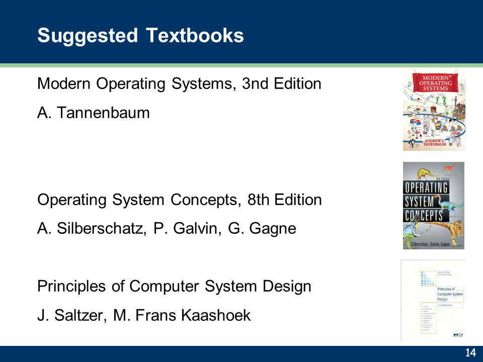 Suggested Textbooks