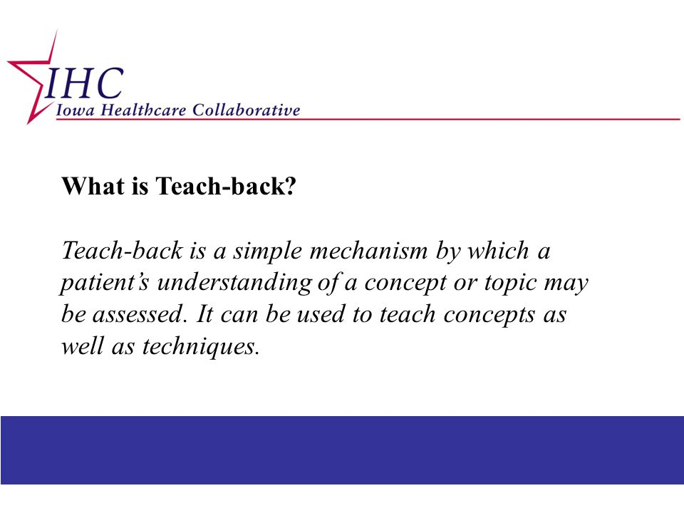 What is Teach-back