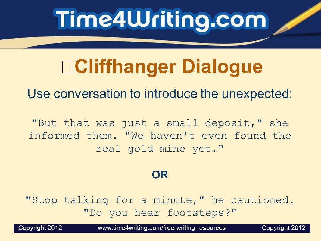 Cliffhanger Dialogue