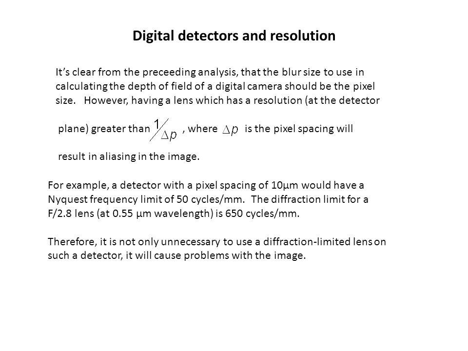 Digital detectors and resolution