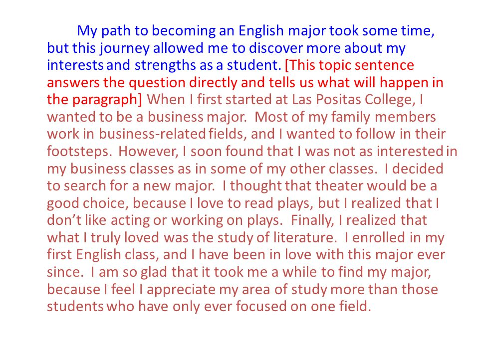 My path to becoming an English major took some time, but this journey allowed me to discover more about my interests and strengths as a student.