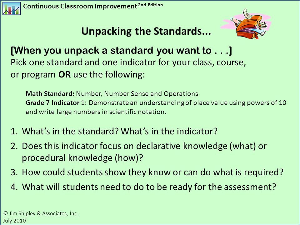 Unpacking the Standards...