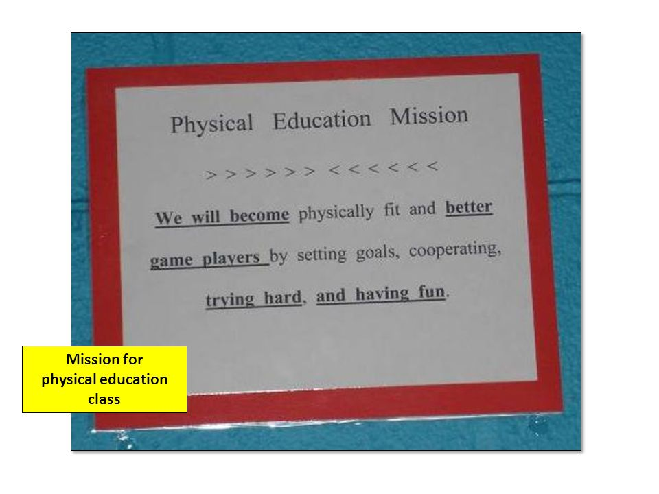 physical education class