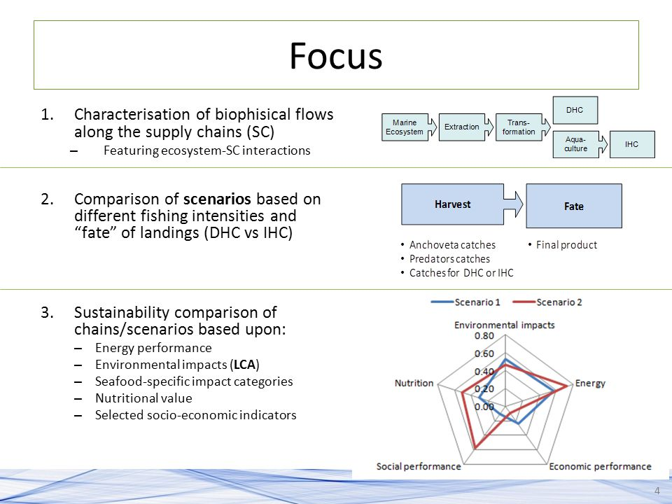 Focus Characterisation of biophisical flows along the supply chains (SC) Featuring ecosystem-SC interactions.