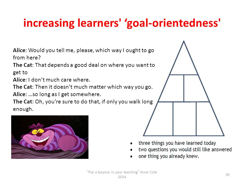 increasing learners 'goal-orientedness