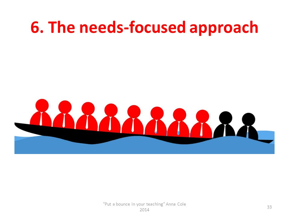 6. The needs-focused approach