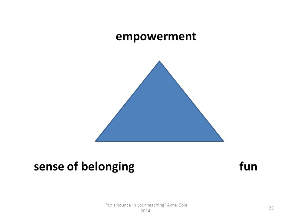 empowerment sense of belonging fun