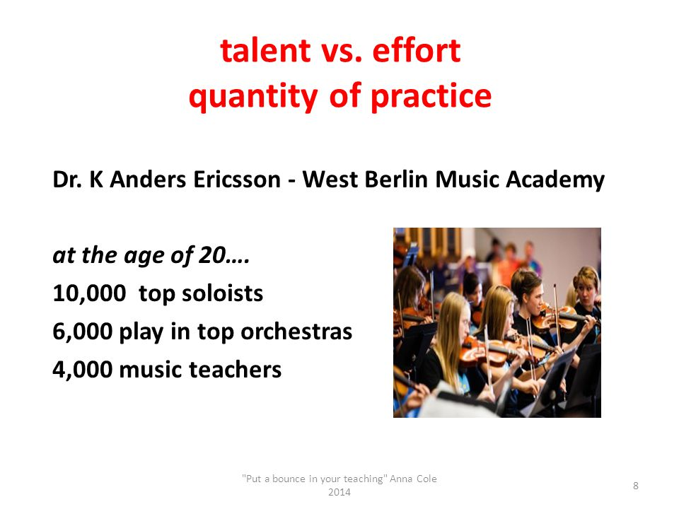 talent vs. effort quantity of practice