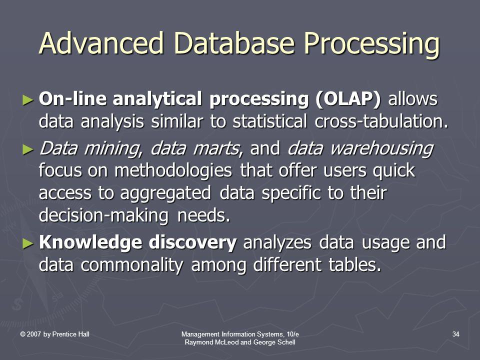 Advanced Database Processing