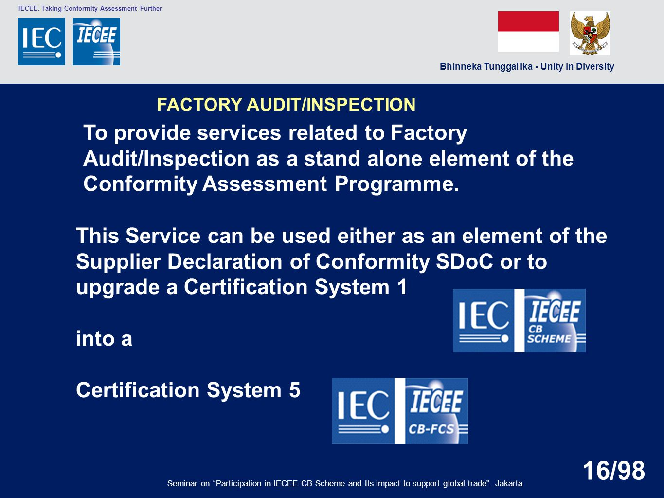 upgrade a Certification System 1 into a Certification System 5