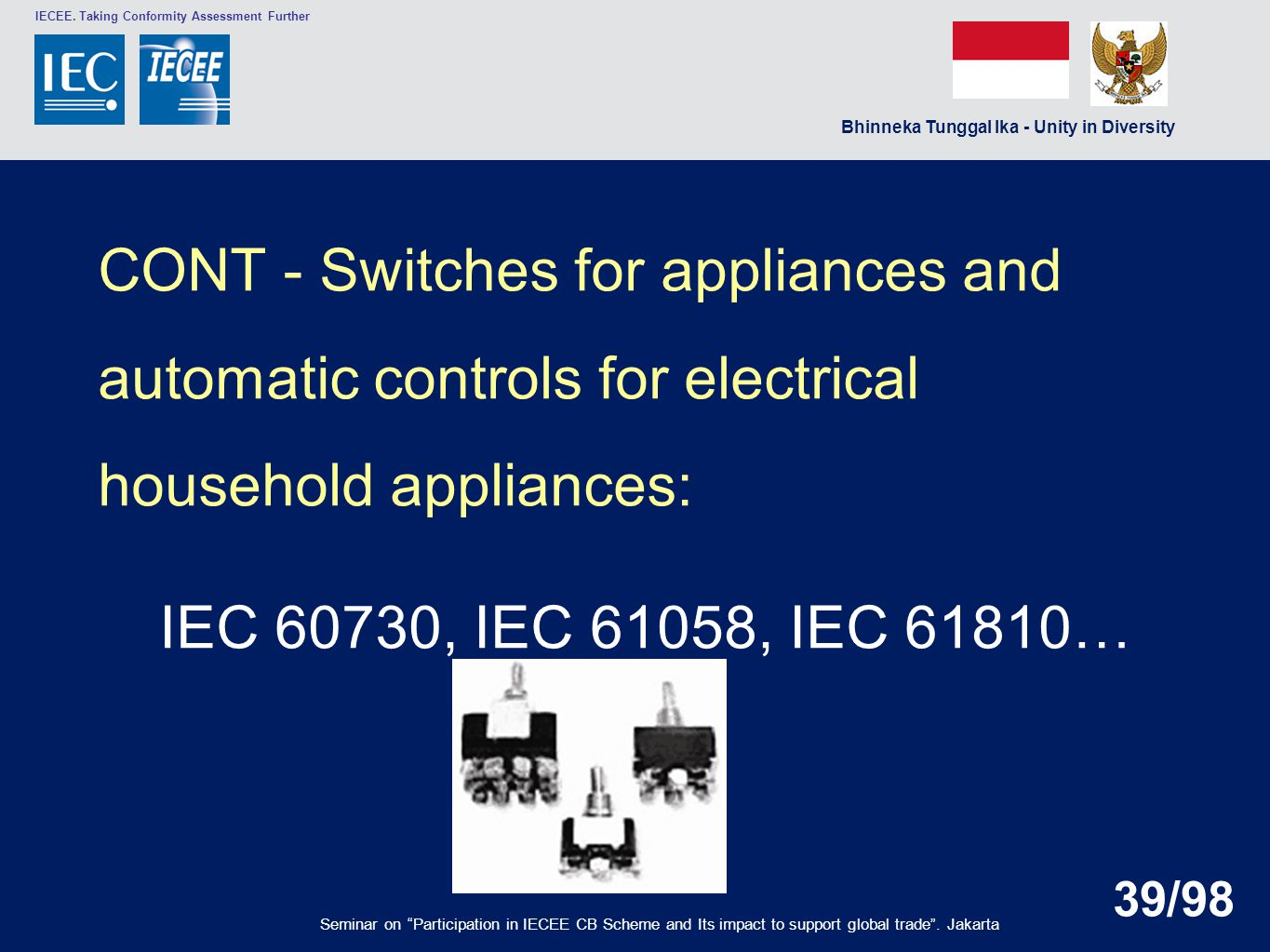 CONT - Switches for appliances and automatic controls for electrical