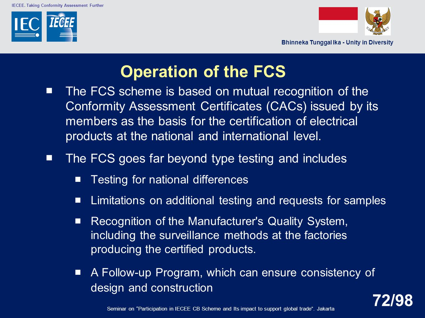 Operation of the FCS