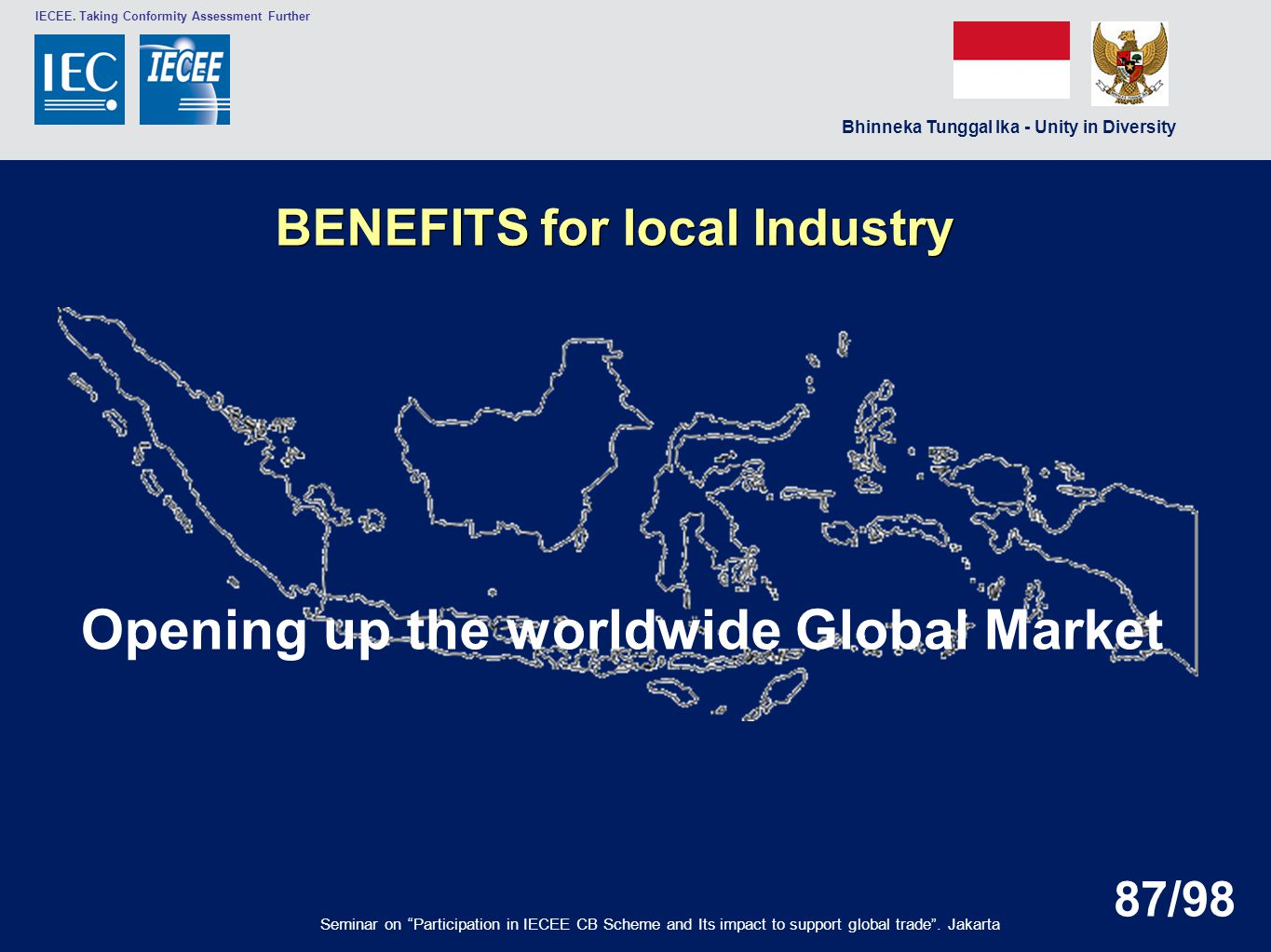 BENEFITS for local Industry