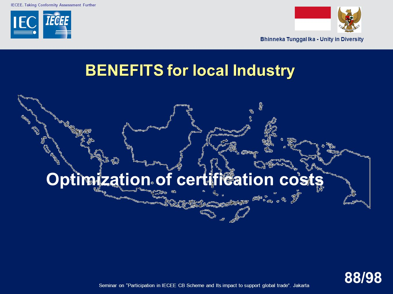 Optimization of certification costs