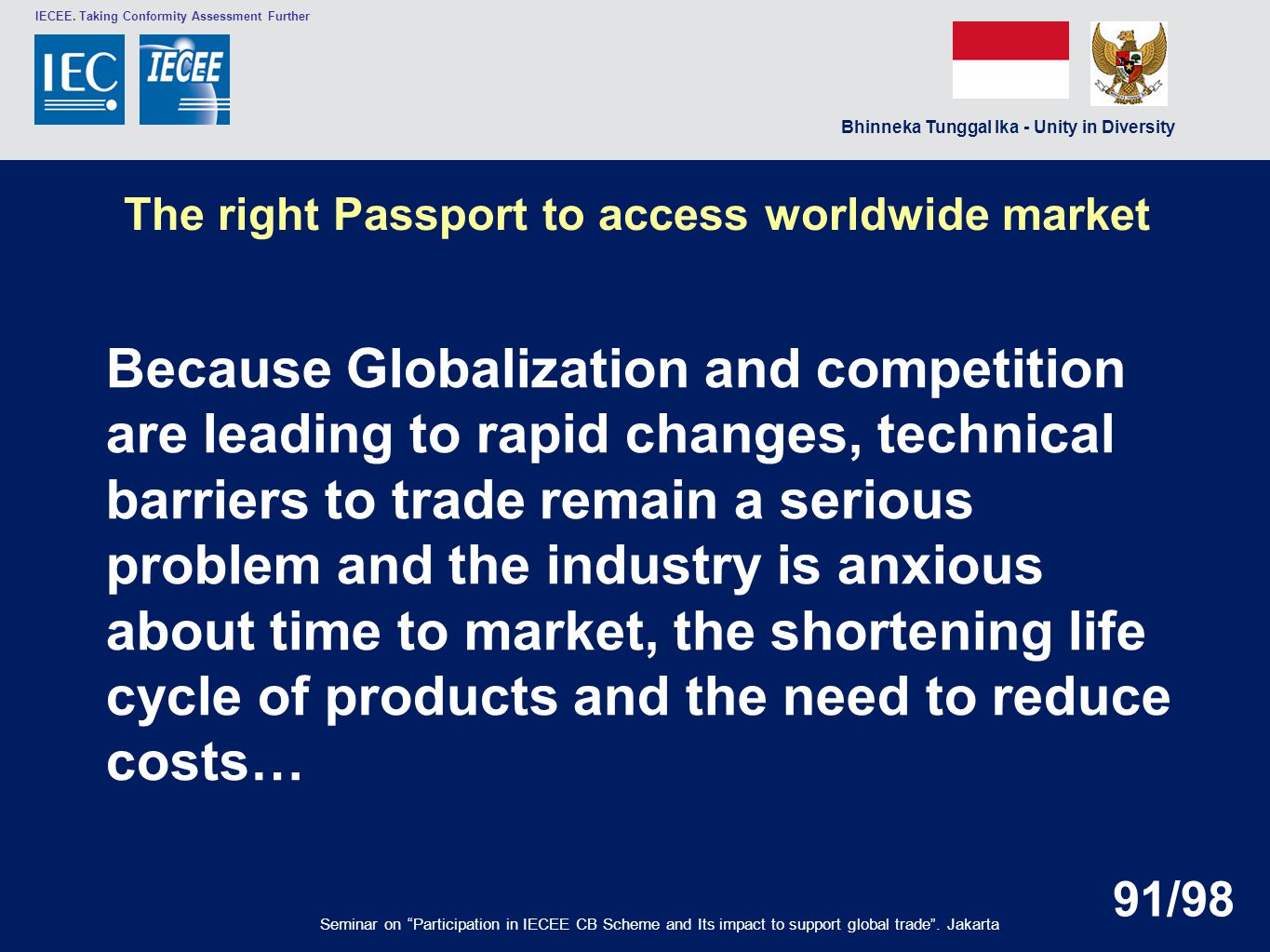 The right Passport to access worldwide market