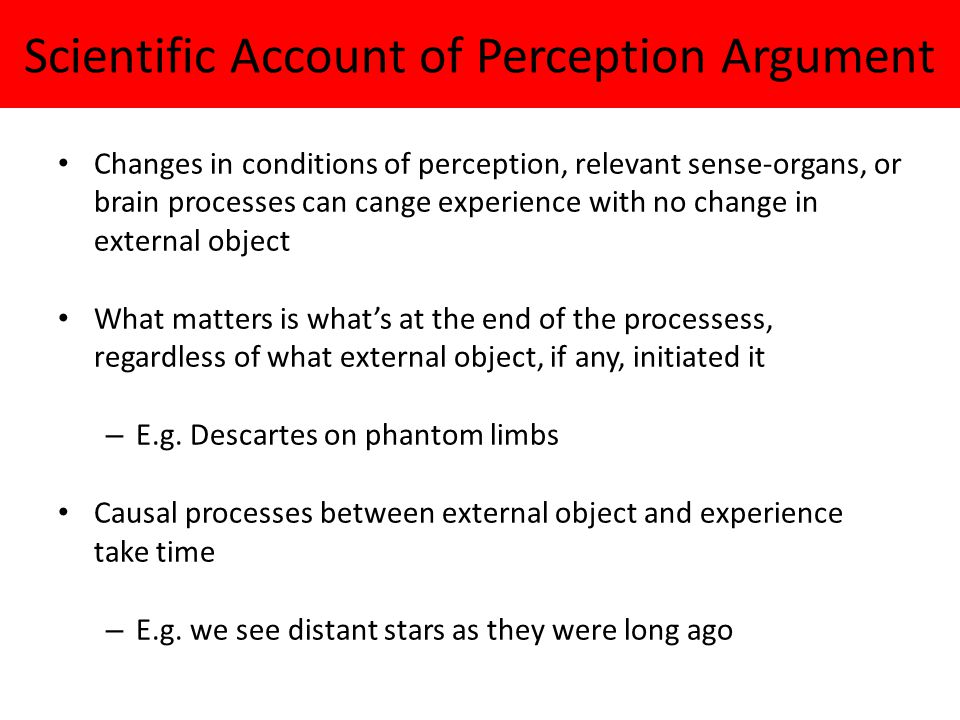 Scientific Account of Perception Argument